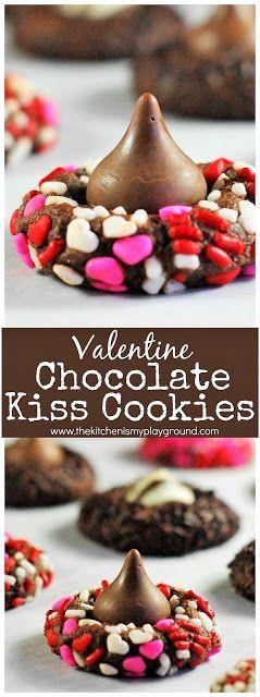 45 Valentinstag Desserts: Schokolade Valentine Kiss Cookies