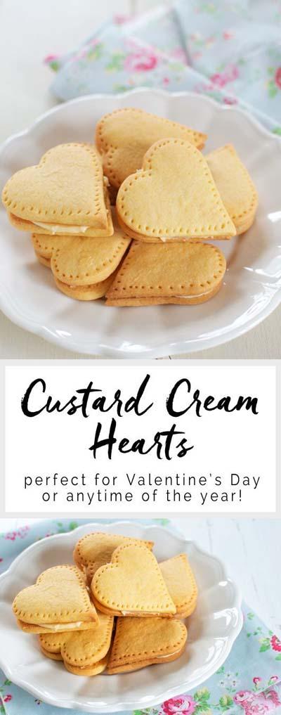 45 Valentinstag Desserts: Puddingcreme Herzen