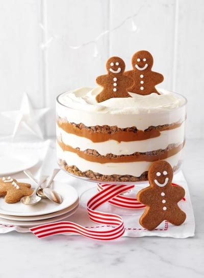 30 Christmas Trifle Recipes: Gingerbread And Caramel Trifle