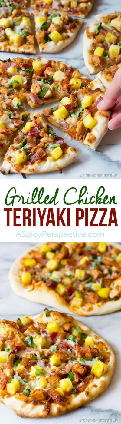 35 Homemade Pizza Recipes: Grilled Chicken Teriyaki Pizza