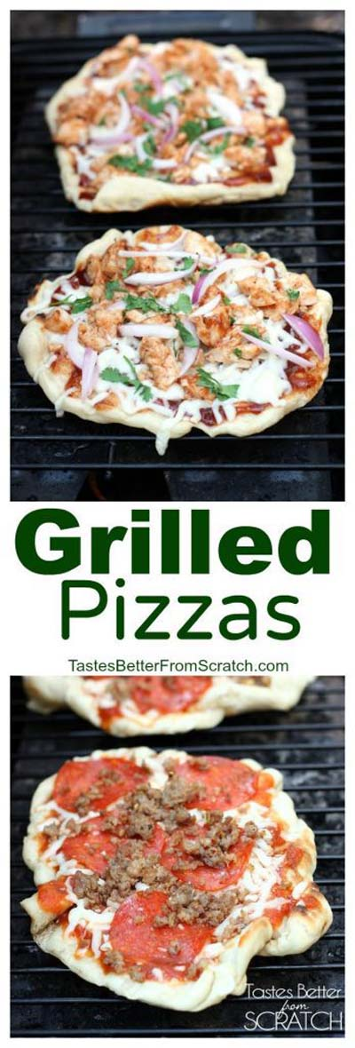 35 Homemade Pizza Recipes: Grilled Pizzas