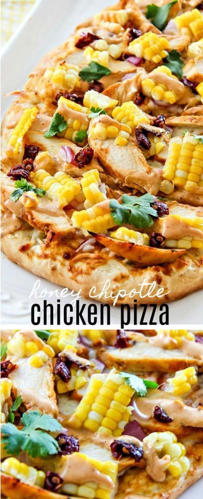 35 Homemade Pizza Recipes: Honey Chipotle Chicken Pizza