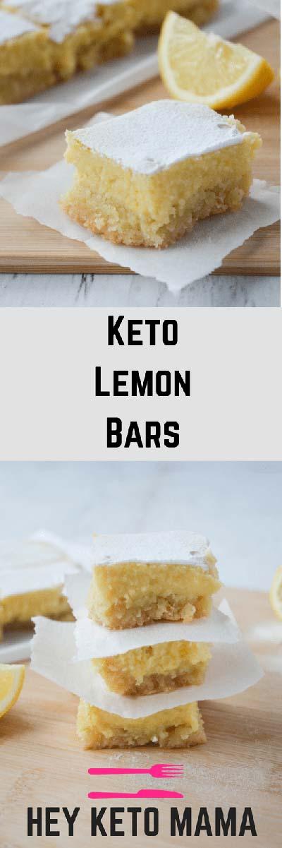 20 Keto Dessert Recipes: Keto Lemon Bars