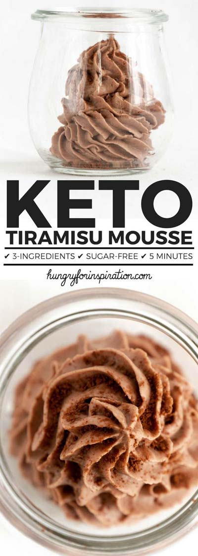 20 Keto Dessert Recipes: Keto Tiramisu Mousse