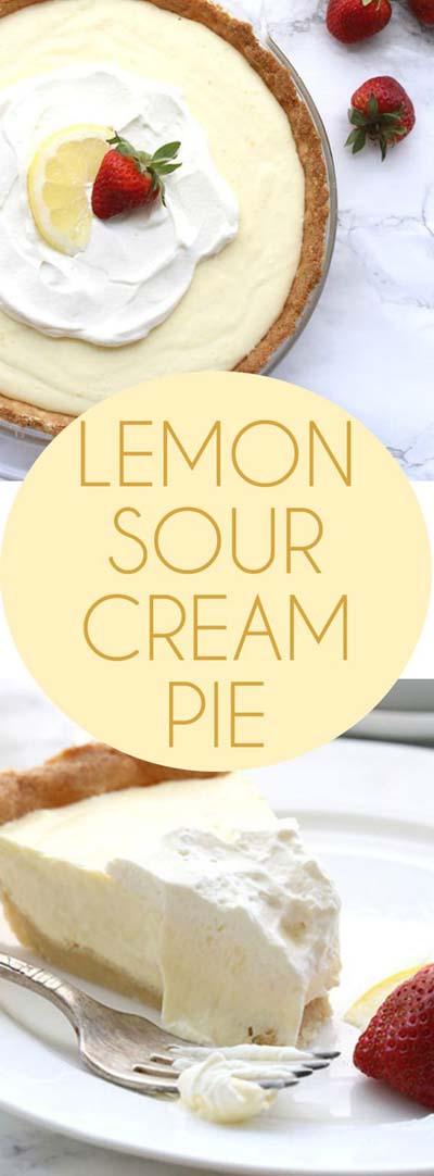 20 Keto Dessert Recipes: Lemon Sour Cream Pie