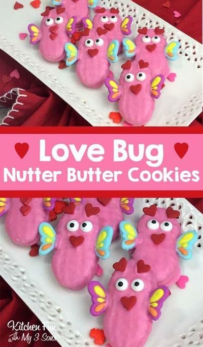 45 Valentinstag Desserts: Love Bug Cookies