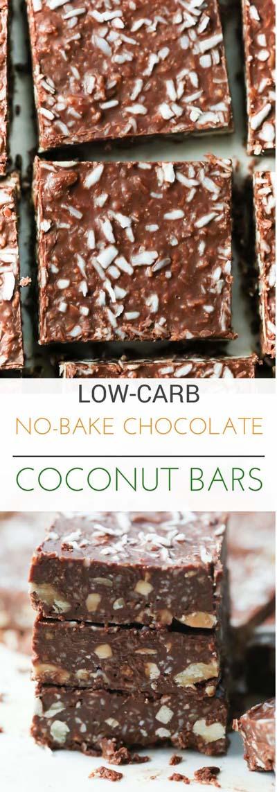 20 Keto Dessert Recipes: No-Bake Chocolate Coconut Bars