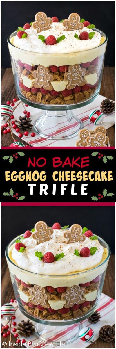 30 Christmas Trifle Recipes: No Bake Eggnog Cheesecake Trifle