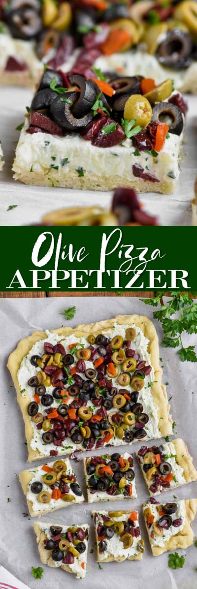 35 Homemade Pizza Recipes: Olive Pizza Appetizer