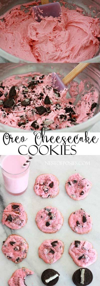 45 Valentines Desserts: Oreo Käsekuchen Kekse