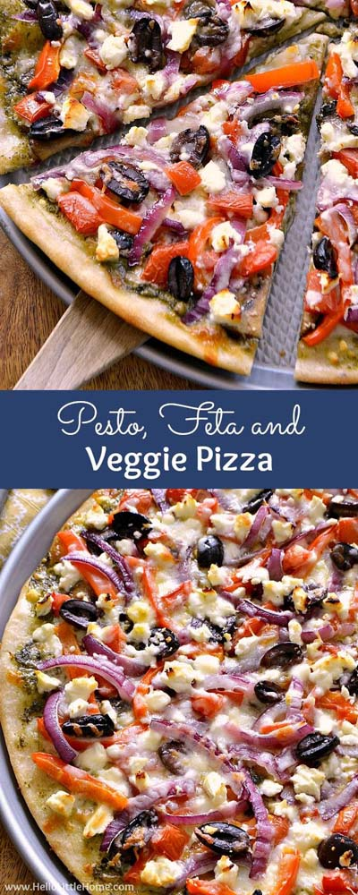 35 Homemade Pizza Recipes: Pesto, Feta, And Veggie Pizza