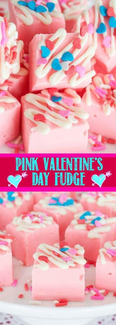 45 Valentinstag Desserts: Pink Lemonade Fudge