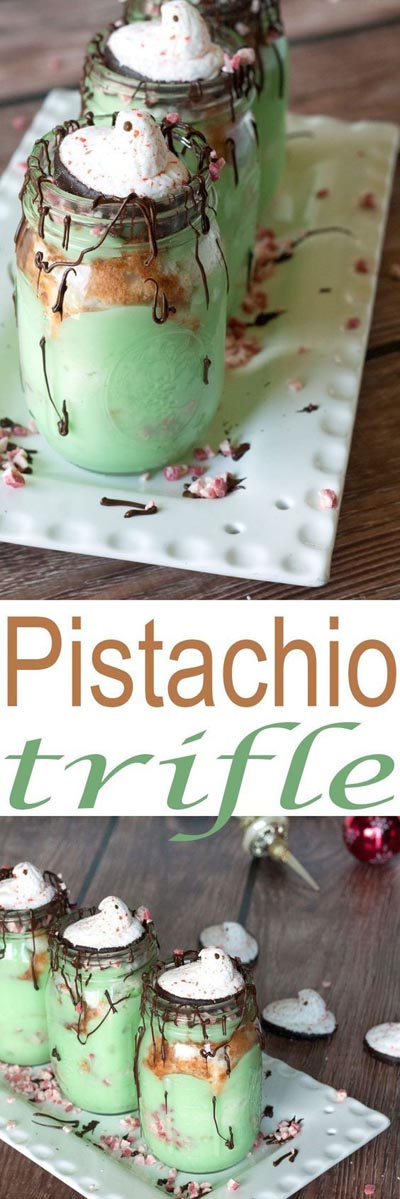 30 Christmas Trifle Recipes: Pistachio Christmas Trifle