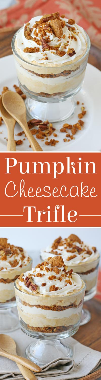30 Christmas Trifle Recipes: Pumpkin Cheesecake Trifle