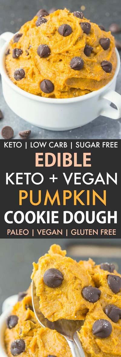 20 Keto Dessert Recipes: Pumpkin Cookie Dough
