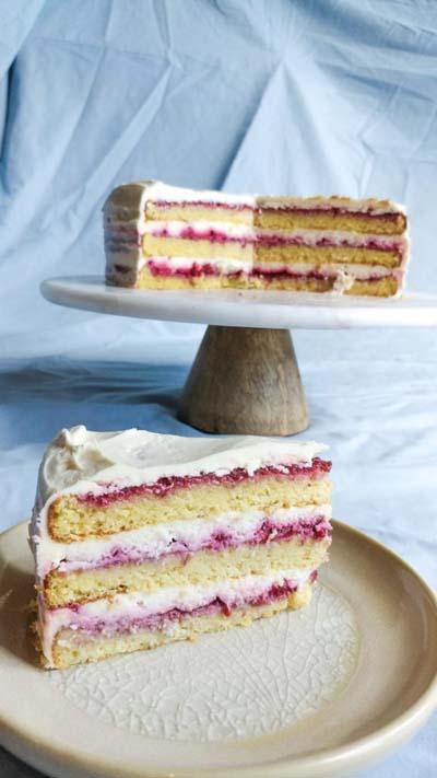 20 Keto Dessert Recipes: Raspberry Layer Cake