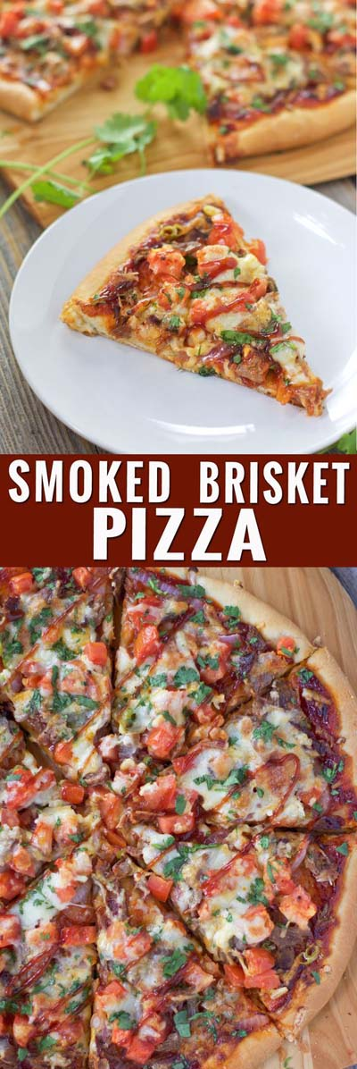 35 Homemade Pizza Recipes: Smoked Beef Brisket Pizza