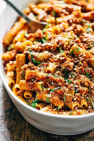 25 Pasta Recipes: Spicy Sausage Rigatoni