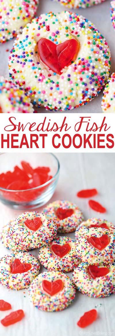 45 Valentinsdesserts: Schwedische Fischherzplätzchen