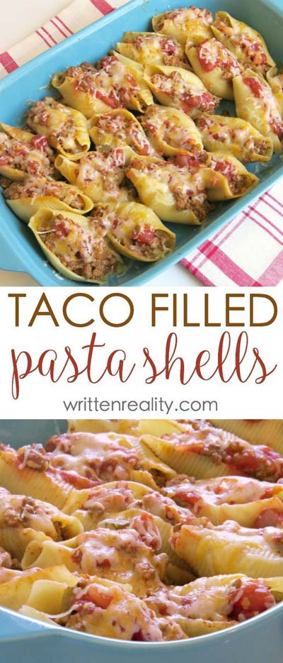 25 Pasta Recipes: Taco Filled Pasta Shells Recipe