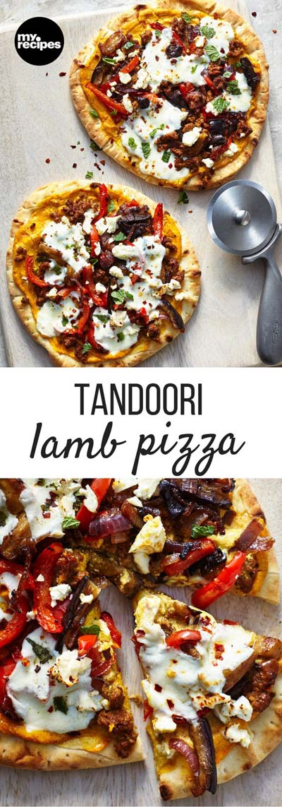 35 Homemade Pizza Recipes: Tandoori Lamb Pizza