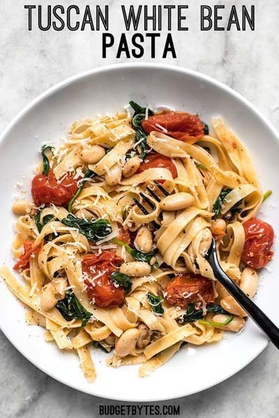 25 Pasta Recipes: Tuscan White Bean Pasta