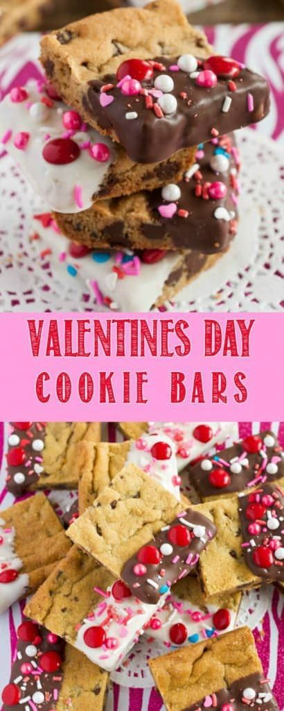 45 Valentines Desserts: Valentine's Day Cookie Bars
