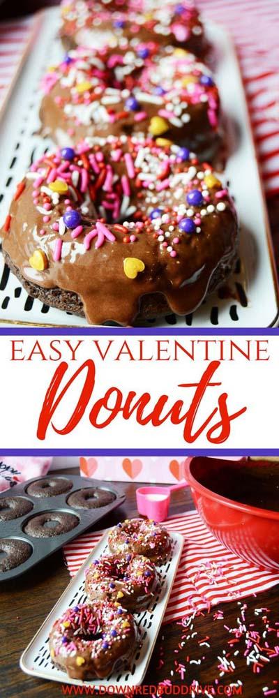 45 Valentinstag Desserts: Valentine Donuts