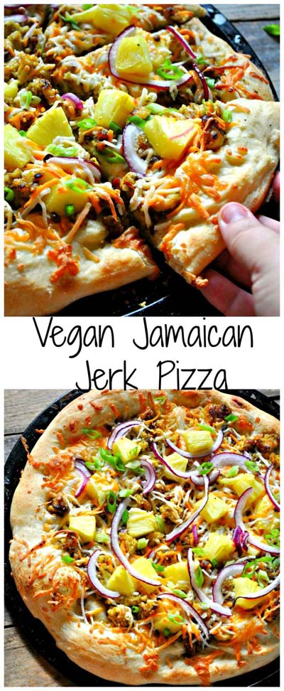35 Homemade Pizza Recipes: Vegan Jamaican Jerk Pizza