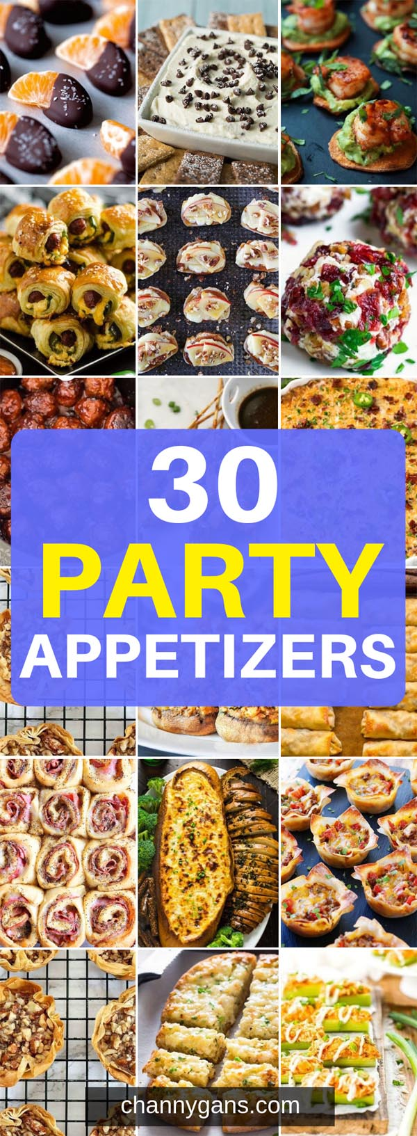 In need of some food ideas for your party? These 30 party appetizers are perfect for your next party, from a New Years Eve party to game day - these party appetizers won't disappoint!