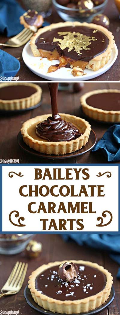 20 Tasty Tart Recipes: Baileys Chocolate Caramel Tarts