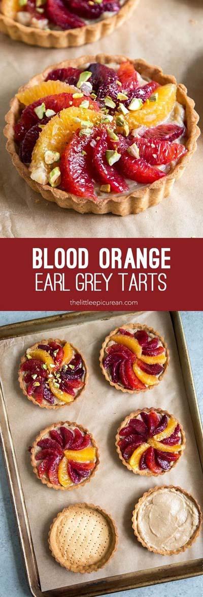20 Tasty Tart Recipes: Blood Orange Earl Grey Tarts