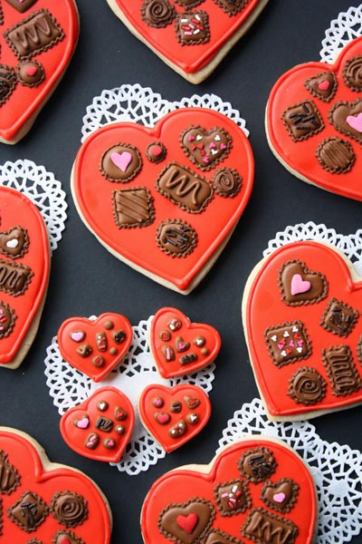 40 Valentine's Day Cookies: Box of Chocolates Cookie