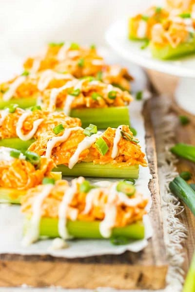 25 Super Bowl Snacks: Buffalo Chicken Celery Sticks