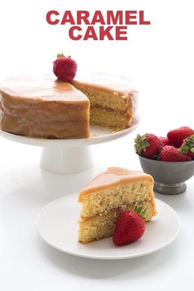 20 Keto Desserts: Caramel Cake
