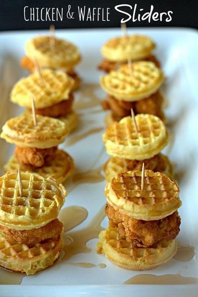 25 Super Bowl Snacks: Chicken & Waffle Sliders