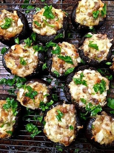 25 Super Bowl Snacks: Easy Artichoke Stuffed Mushrooms