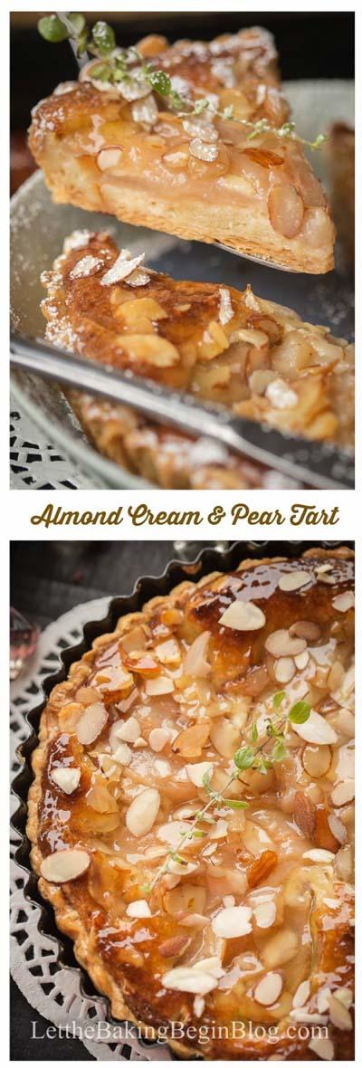 20 Tasty Tart Recipes: French Almond Cream & Pear Tart