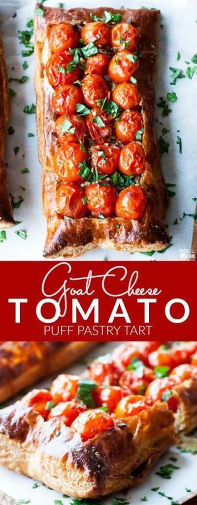 20 Tasty Tart Recipes: Goat Cheese Tomato Tart