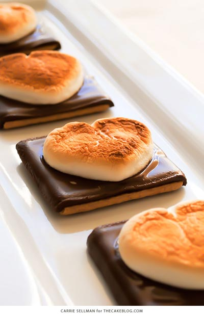 40 Valentine's Day Cookies: Heart Shaped S'more Cookies