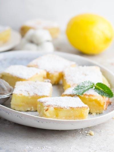 20 Keto Desserts: Keto Lemon Bars
