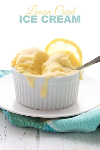 20 Keto Desserts: Keto Lemon Curd Ice Cream