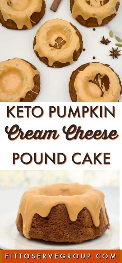 20 Keto Desserts: Keto Pumpkin Cream Cheese Pound Cake