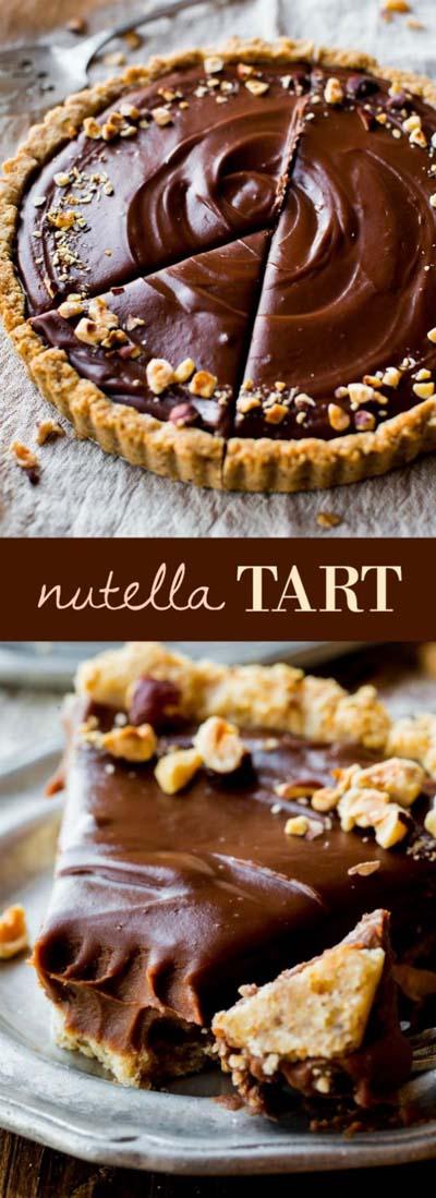 20 Tasty Tart Recipes: Nutella Tart With Toasted Hazelnut Crust