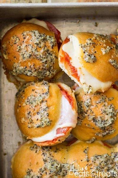 20 Slider Recipes: Pepperoni Pizza Sliders