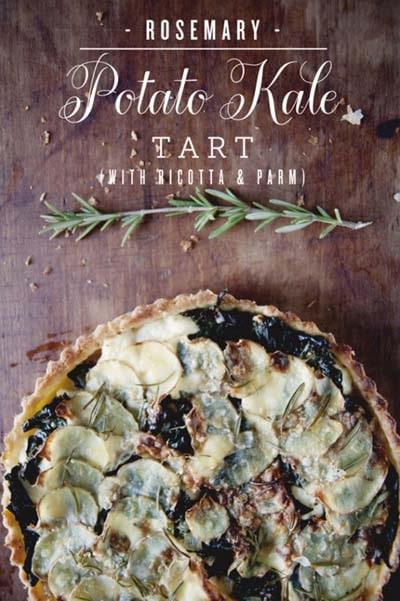 20 Tasty Tart Recipes: Rosemary Potato Kale Tart
