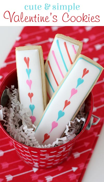 40 Valentine's Day Cookies: Simple Valentine's Cookie Sticks