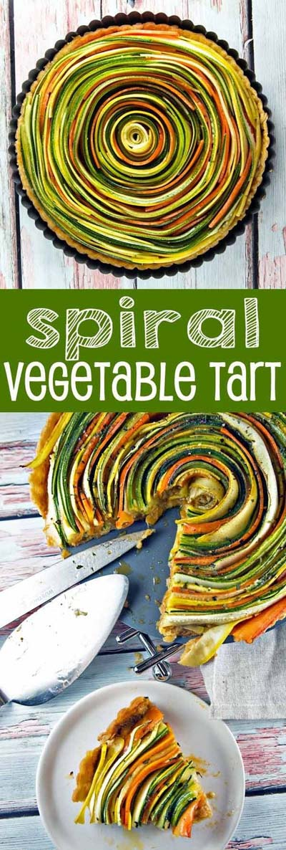 20 Tasty Tart Recipes: Spiral Vegetable Tart