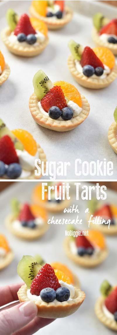 20 Tasty Tart Recipes: Sugar Cookie Fruit Tarts