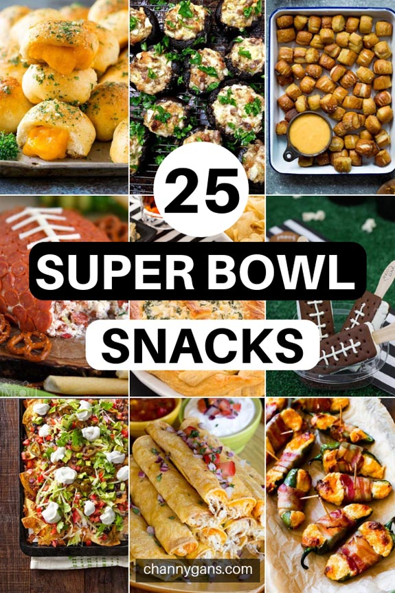 Enjoy game day with these 25 super bowl snacks. There's no need to slave away in the kitchen - make some of these easy super bowl snacks for your next party
